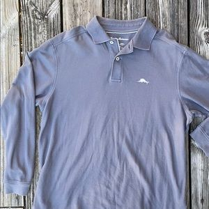 Sz M Tommy Bahama Supima cotton long sleeve polo